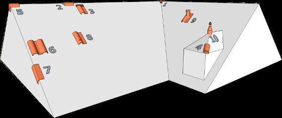 zubeh r im dachziegelbereich f r romanische dachziegel. Black Bedroom Furniture Sets. Home Design Ideas