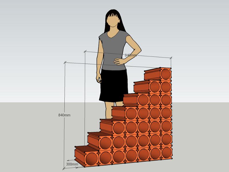 u steine ma e 240mm gasbeton u schalen steine aus. Black Bedroom Furniture Sets. Home Design Ideas